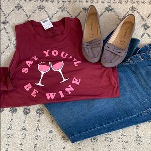"""""""Say you'll be wine"""" graphic tee"""